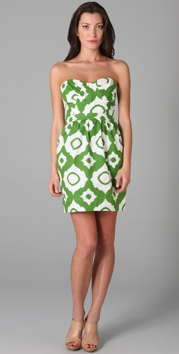 Shoshanna green and white dress - The Newport Stylephile