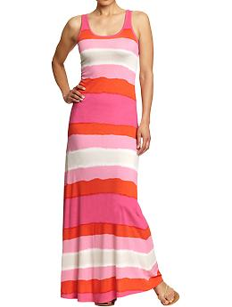 Old Navy, stripes, maxi dress, budget, cheap, summer, long dress