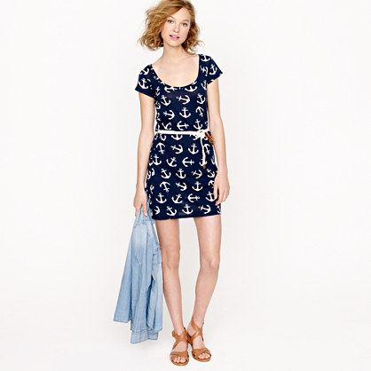 New Crew Collection Scalloped Lace Dress In Blue  Lyst