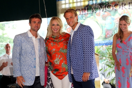 Angela Moore and ATP Tennis Stars Dennis Kudla and Tim Smyczek