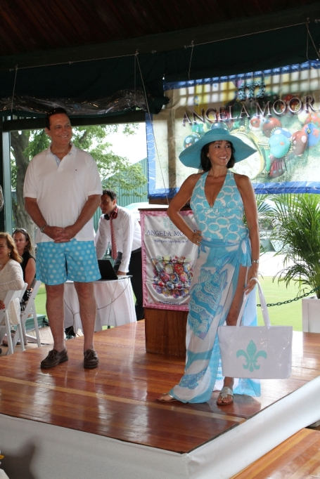 NBC Sports Anchor Frank Carpano and his wife Kathy wearing Manuel Canovas
